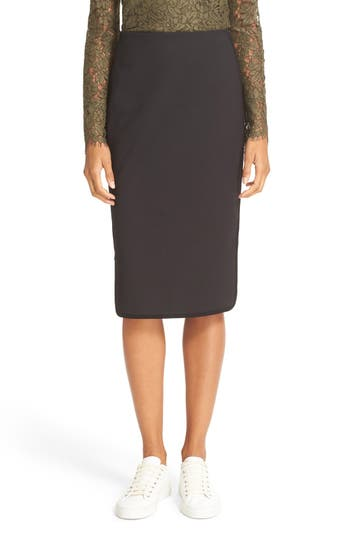 Diane von Furstenberg Noemi Side Zip Pencil Skirt