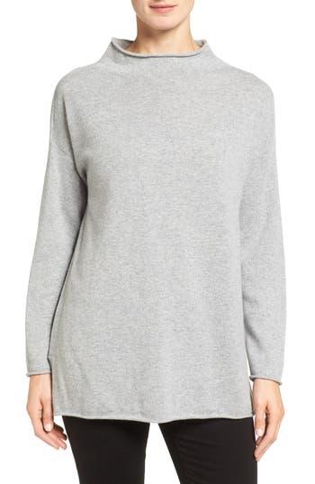 Eileen Fisher Fine Gauge Cashmere Mock Neck Sweater