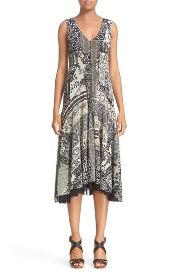 Fuzzi Mosaic Tulle A-line Dress