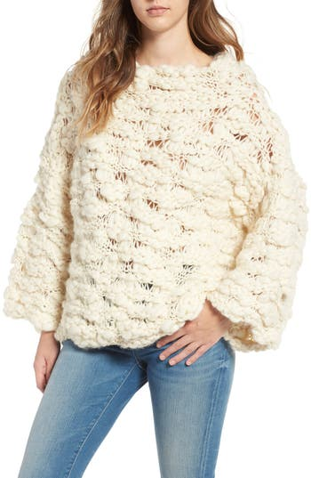 For Love & Lemons Mademoiselle Wool Blend Sweater