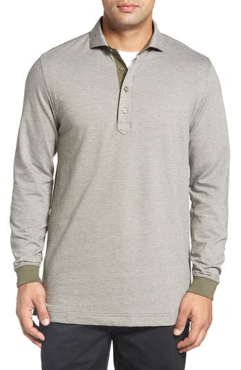 Bobby Jones Houndstooth Long Sleeve Polo