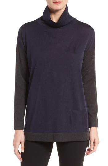 Eileen Fisher Fine Merino Jersey Turtleneck Sweater