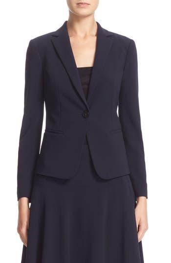 Armani Collezioni Stretch Wool One-Button Jacket