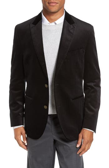 FLYNT Regular Fit Pindot Velvet Sport Coat (Regular & Big)
