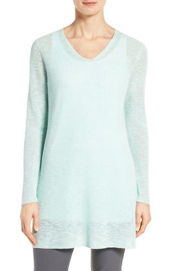 Eileen Fisher Slubbed Organic Linen & Cotton Tunic