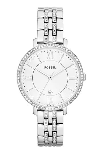 Fossil 'Jacqueline' Crystal Bezel Bracelet Watch, 36mm