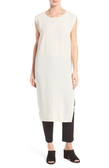 Eileen Fisher Silk Georgette Tunic