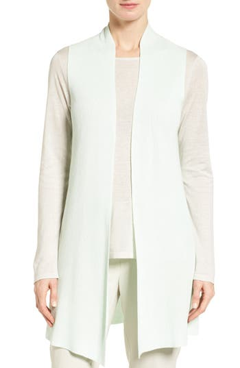 Eileen Fisher Sleek Ribbed Tencel® Vest (Regular & Petite)