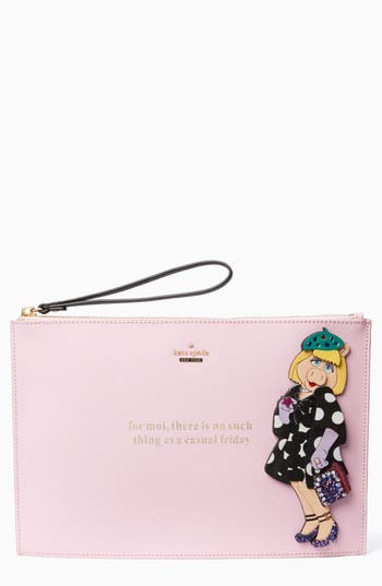 kate spade new york miss piggy britta clutch