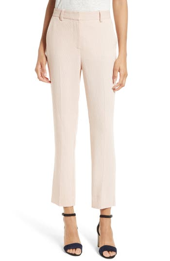 Rebecca Taylor Pin Dot Straight Leg Crop Pants