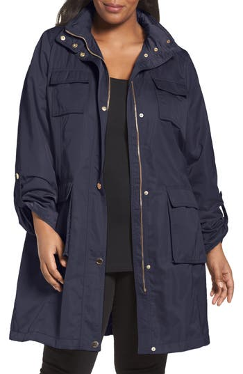 Tahari Monroe Utility Trench Coat (Plus Size)