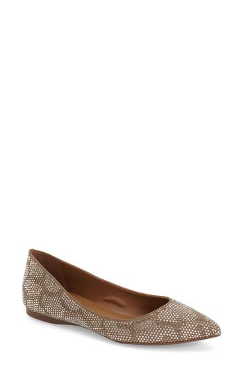 French Sole 'Quad' Embellished Flat (Women)