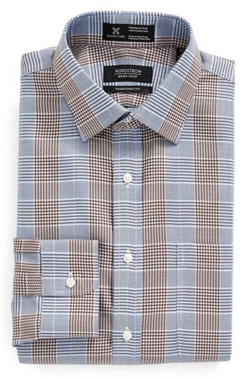 Nordstrom Men's Shop Smartcare™ Traditional Fit Graphic Check Dress Shirt