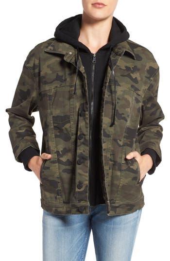 Hudson Jeans Emmet Hooded Boyfriend Jacket