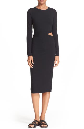 Elizabeth and James Riley Slit Waist Midi Dress