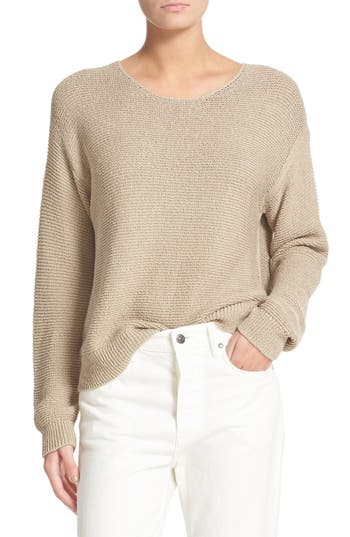 Vince Textured Cotton Pullover