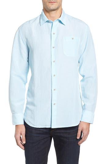 Tommy Bahama Check Linen Sport Shirt