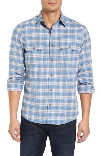Nordstrom Men's Shop Trucker Slim Fit Flannel Shirt