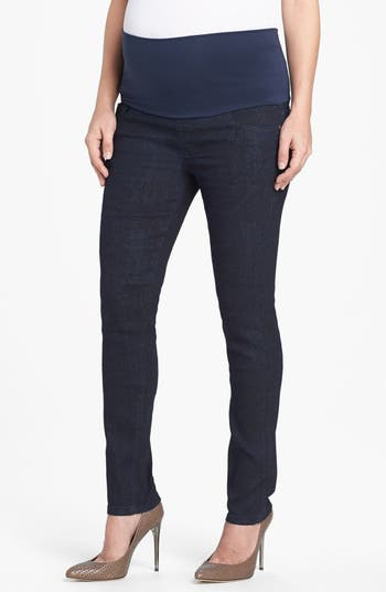 Maternal America Print Maternity Skinny Jeans