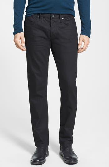 John Varvatos Star USA 'Bowery' Slim Straight Leg Jeans (Jet Black)