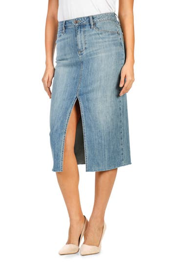 PAIGE Leanne Denim Skirt