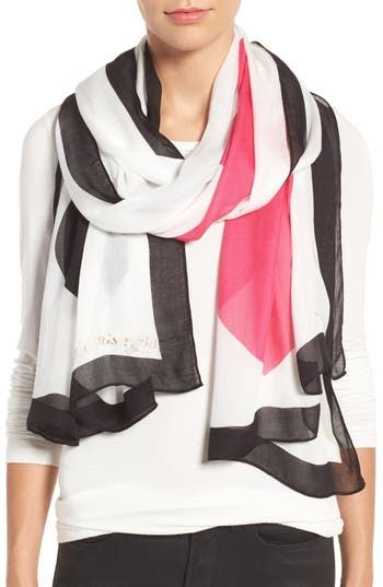 kate spade new york suit of cards oblong scarf