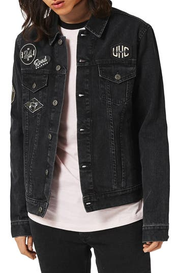 Topman Denim Jacket with Patches
