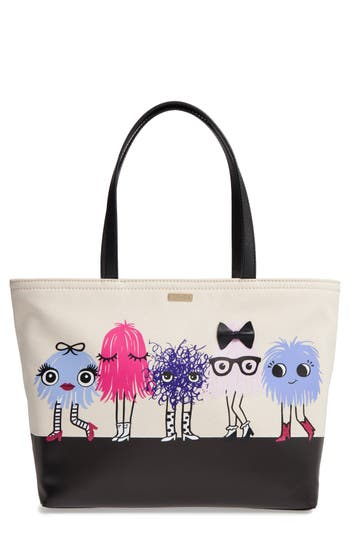 kate spade new york imagination monsters - francis canvas tote