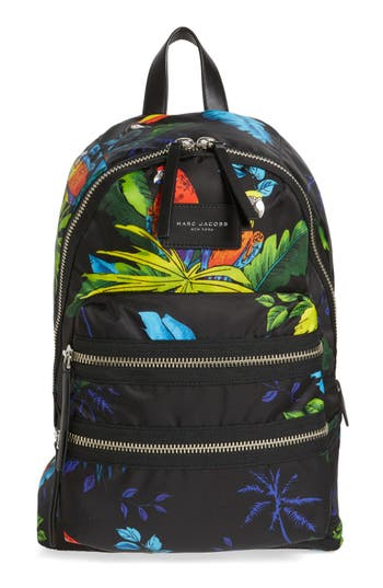 MARC JACOBS Biker Parrot Print Backpack
