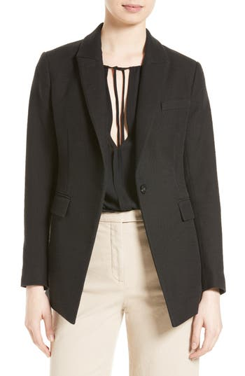 Theory Etiennette One-Button Canvas Jacket