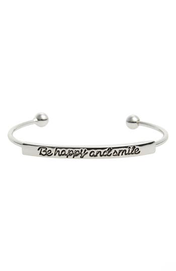 Topshop Be Happy and Smile Cuff