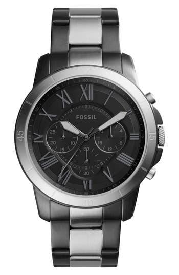 Fossil 'Grant' Chronograph Bracelet Watch, 44mm
