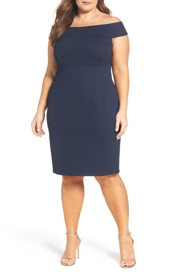 Adrianna Papell Sheath Dress (Plus Size)