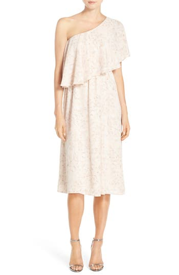 Paper Crown by Lauren Conrad 'Ariana' One-Shoulder Tea Length Dress