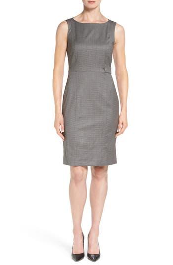 BOSS 'Daflink' Sleeveless Wool Blend Sheath Dress