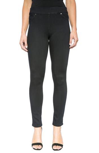Liverpool Jeans Company Sienna Mid Rise Soft Stretch Denim Leggings  (Indigo Overdye Black)