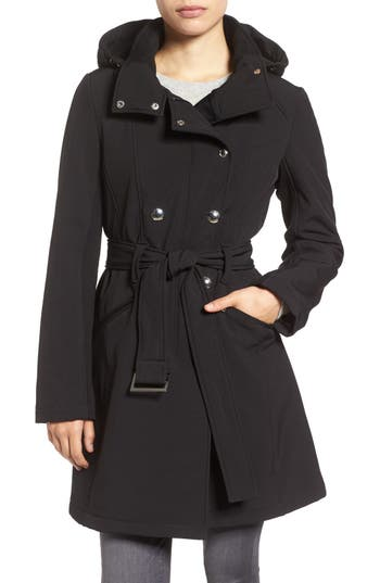 Calvin Klein Double Breasted Soft Shell Trench Coat