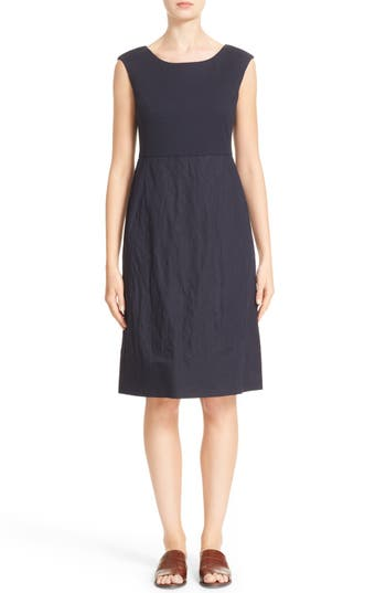 Lafayette 148 New York Aleema Ponte & Crinkle Dress