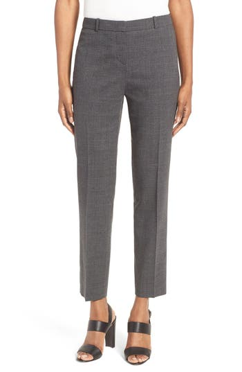 BOSS Tiluna Stretch Wool Slim Ankle Trousers (Regular & Petite)