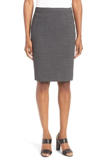 BOSS Vimena Stretch Wool Pencil Skirt