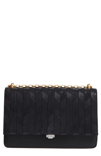 Michael Kors Medium Yasmeen Chevron Leather Clutch