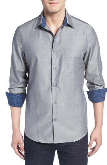 John W. Nordstrom® Regular Fit Non-Iron Herringbone Sport Shirt