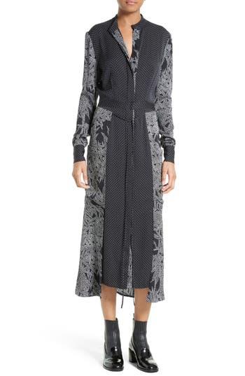 Diane von Furstenberg Midi Stretch Silk Shirtdress