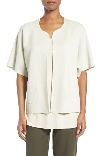 Eileen Fisher Silk & Organic Cotton Cardigan