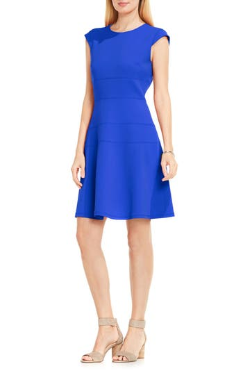 Vince Camuto Seam Detail Fit & Flare Dress