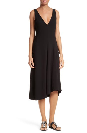 Theory Tadayon B Elevate Crepe Midi Dress