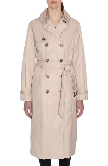 Tahari Lauren Long Hooded Trench Coat