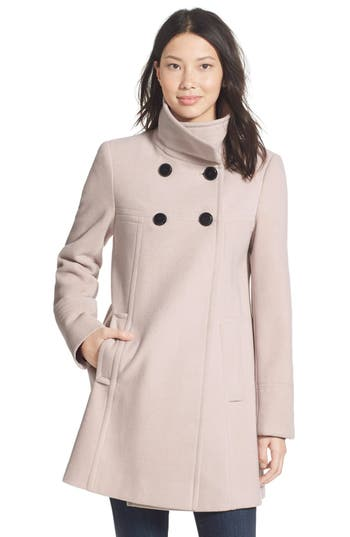 Larry Levine A-Line Babydoll Coat (Regular & Petite)