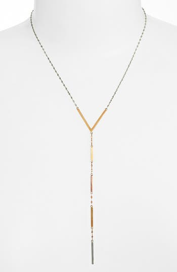 Lana Jewelry Tri Color Long Lariat Necklace