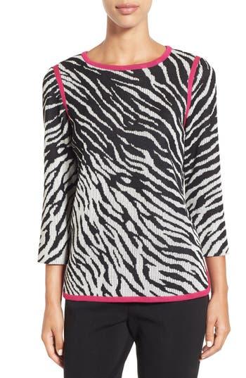 Ming Wang Zebra Knit Tunic